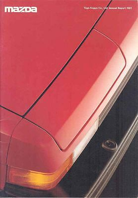 1981 Mazda Annual Report Brochure History RX7 Truck Bus wp2293-EFG3O2