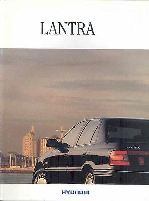 1990 ? Hyundai Lantra Brochure Dutch Korea wp2516-EGRQ88