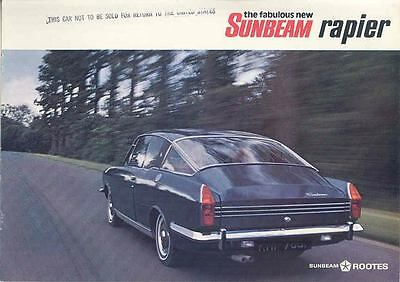 1968 Sunbeam Rapier Brochure wp2568-3SPHSK