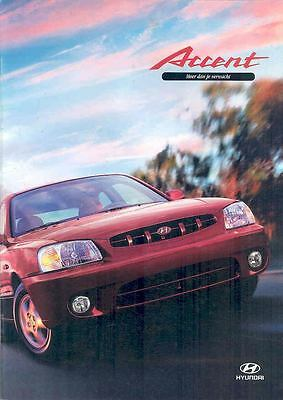 2000 Hyundai Accent Brochure Korea Dutch wp3407-PKQEY2