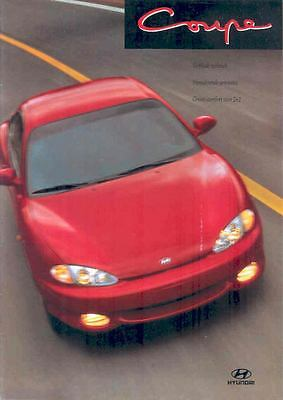 1997 Hyundai Coupe Brochure Korea Dutch wp3433-MTZ3RR