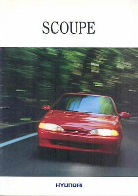 1994 ? Hyundai Scoupe Brochure Korea Dutch wp3446-JS1L89