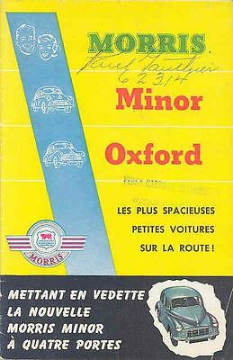 1954 Morris Minor Oxford Brochure Poster French Canada wp4177-1PN4GL