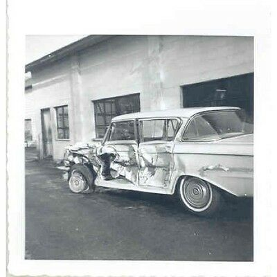 1960 1961 ? AMC Rambler Crash at Dealer ORIGINAL Photo Pa wp6150-Z53YIN