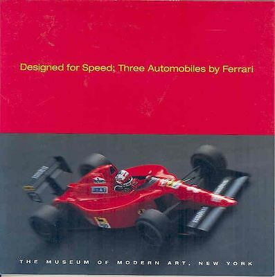 1949 1993 Ferrari MOMA Art Brochure F40 GTO 166MM F1 wp6868-X9K4ZZ