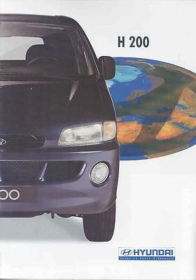 1997 Hyundai H200 Van Station Wagon Brochure Dutch wp6914-B1NEQV