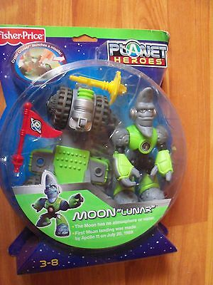 """1997 Fisher Price Planet Heroes Moon """"Lunar"""" NIP Ages 3-8"""