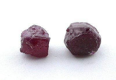 27.98 Carat Two Ruby Facet Rough Gem Stone Gemstone Crystals EBS2027