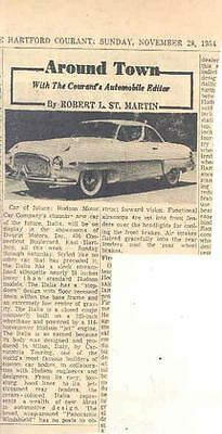 1954 1955 Hudson Italia Concept Newspaper Article  wo2829-ZY3GCL