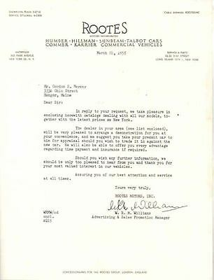 1955 Sunbeam Talbot Humber Hillman Commer US Letter  wo2859-RCIZPB