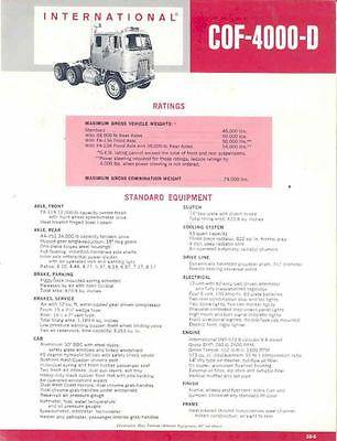 1967 International CO8190 Fire Truck Brochure wo2912-SCTZ7J