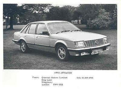 1980 Opel Senator ORIGINAL Factory Photo wo4803-19IRXF