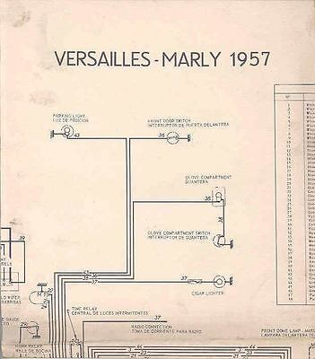 1957 Simca Versailles Marly Wiring Diagram Poster wo5927-XQO4S5
