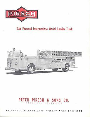 1962 Pirsch Cab Forward Aerial Fire Truck Brochure wo6497-5RB27S