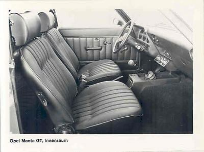1974 Opel Manta GT Interior ORIGINAL Factory Photo wo6555-CEVT5J
