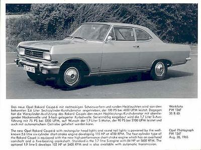 1966 Opel Rekord Coupe ORIGINAL Factory Photo wo6757-ZYQTVS