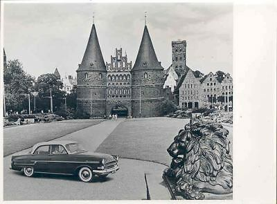 1955 Opel Kapitan Holstentor Lubeck ORIGINAL Factory Photo wo6860-4W1ILP