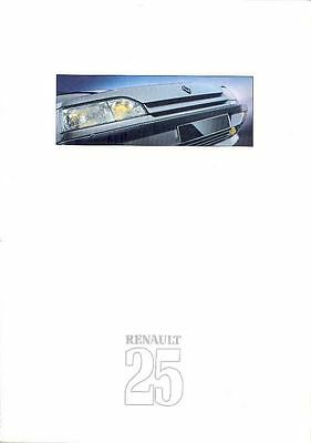 1989 Renault 25 Brochure French wo8347-HHBFHW