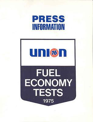 1975 Union 76 Fuel Economy Press Kit Pacer Pinto Audi wo9018-1GNF28
