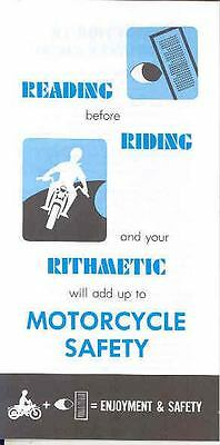 1976 ? Hodaka Motorcycle Safety Features Brochure wq213-3CJJIP
