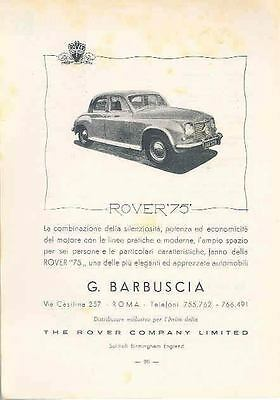 1952 Rover 75 Ad Italy wq2237-NBBHOH