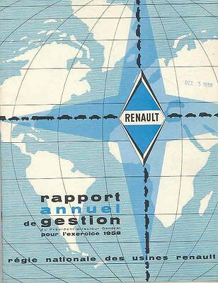 1958 Renault Annual Report Corporate Prestige Brochure wq2853-C9KYW2