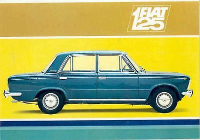 1968 Fiat 125 Sedan Brochure German wq3289-UE8466