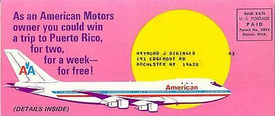 1972 AMC & American Airlines 747 Contest Brochure wq444-IWR46V