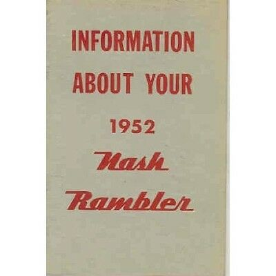 1952 Nash Rambler Owner's Manual wq4905-P59ZU1