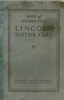 1925 Lincoln Owner's Manual Fifth Edition wq5531-R9T7OE