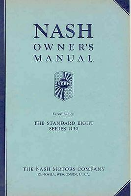 1933 Nash Standard Eight 1130 Owner's Manual Export NOS wq5665-O1OSKY