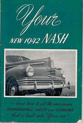 1942 Nash Owner's Manual & Owner Policy / ID Card wq5684-3MGYZI