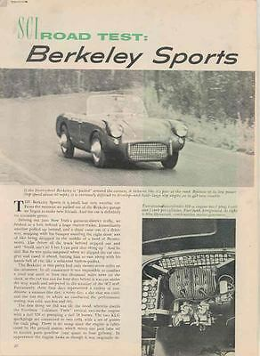 1958 Berkeley 328 Magazine Article wq7438-O18ART