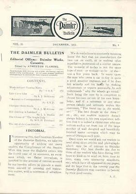 December 1911 Daimler Factory Magazine Brochure wq7449-1UVNSK
