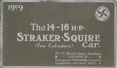 1909 Striker Squire 14-16 HP Prestige Brochure wq7508-9P3Y5G