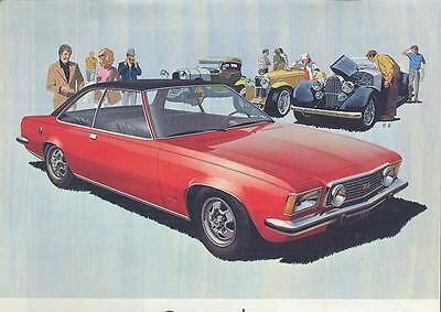 1972 Opel Commodore & GS Brochure Dutch Belgium wq884-E3ZE7S