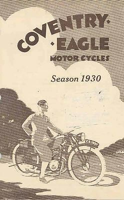 1930 Coventry Eagle Motorcycle Brochure wq8925-7GB7TM