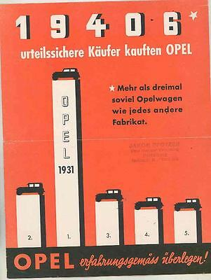 1932 Opel 1200 Four 1800 Six Brochure Poster German ws0996-MSV2X7