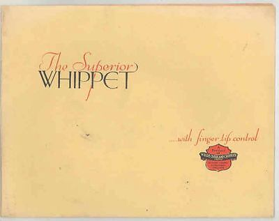 1929 Willys Superior Whippet Four Saloon Brochure England ws1042-NEZ1PX