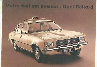 1974 Opel Rekord Taxi Cab Brochure French Belgium  ws1315-IC3SOG