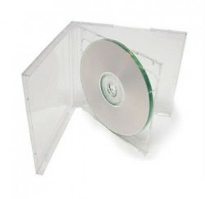 100 STANDARD Clear Double CD Jewel Case