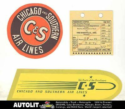 1945 Chicago & Southern Airlines Items wm1441-D3M6RK