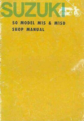 1963 1964 Suzuki 50 M15 M15D Shop Manual we8693-DAMSN8
