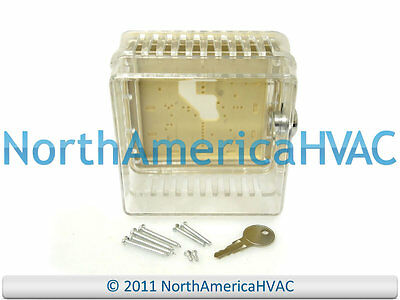 Supco White Rodgers Thermostat Guard Clear Case Lock & Key BTG-EK F29-0225