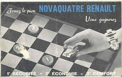 1939 Renault Novaquatre 4 Cylinder Brochure French wb3354-WB895P
