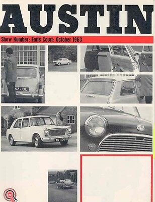1963 1964 Austin 1100 A110 A40 A60 Mini Sales Brochure wb9228-A5X3DL