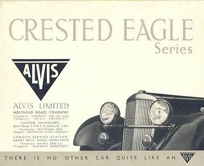 1939 Alvis Crested Eagle 25HP Sales Brochure wb9261-QDIQYQ