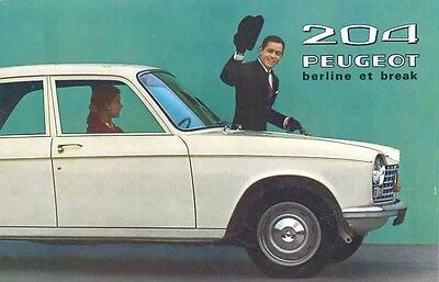 1966 Peugeot 204 Sales Brochure French wx1436-1TAXBL