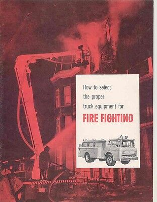 1960 Ford Fire Truck Sales Brochure wx4014-949BHV