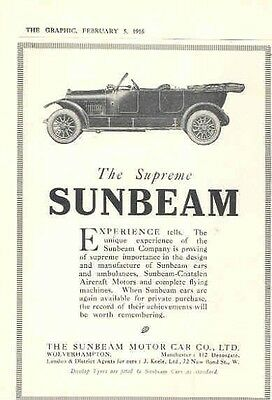 1916 Sunbeam Magazine Advertisement wx8179-5586V5